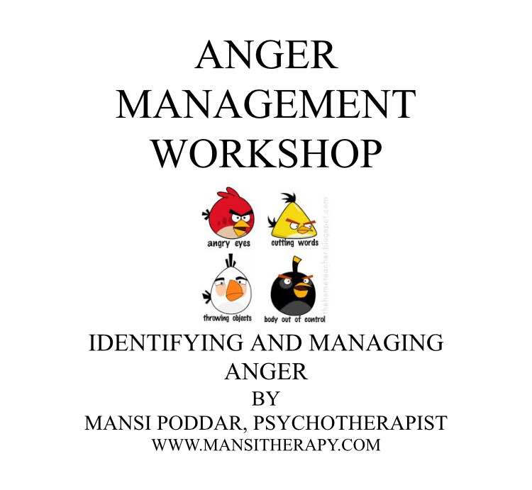 Anger management workshop